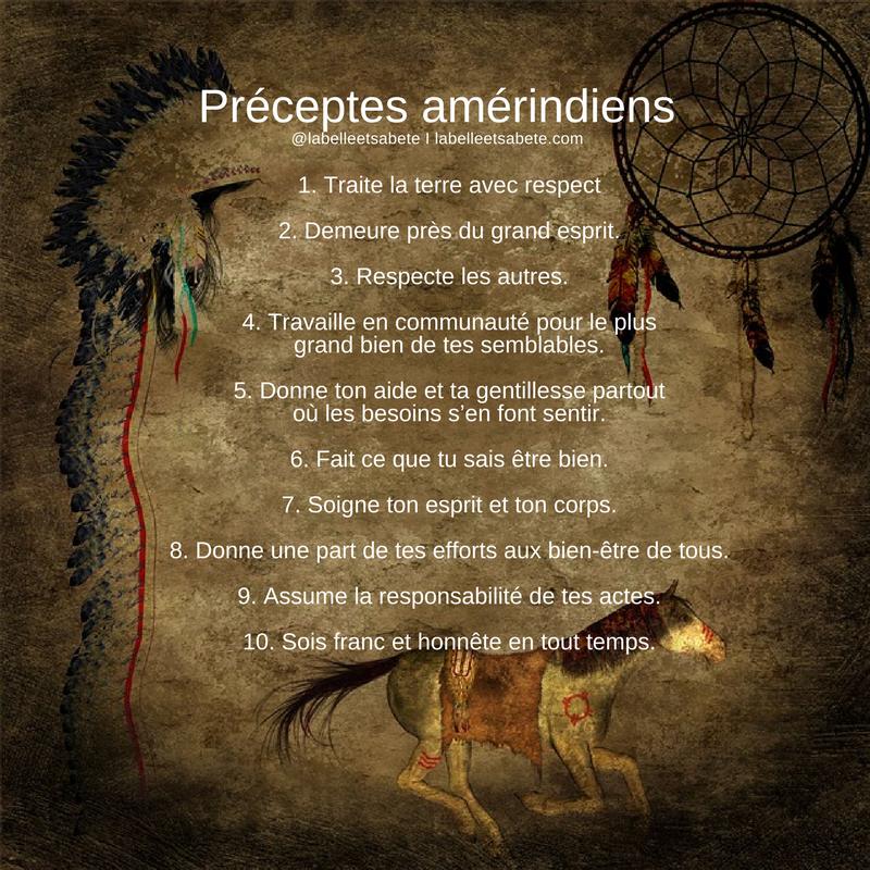 préceptes amérindiens
